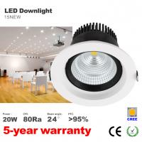 Buy cheap 20W LED Downlight CREE COB LED Bulbs 125mm hole Recessed down light ceilling light product