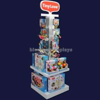 China 4 - Way Top Hook Wood Toy Display Shelf White Painted Retail Store Product Display on sale