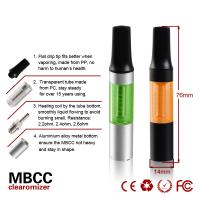 Buy cheap No Burning Mini BCC Clearomizer Single packing , 1.6ml Pen Style from wholesalers