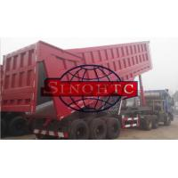 China 35m3 Tri Axle Dump TrailerWith Assistant Cylinder , 80T Semi Trailer End Dump Truck on sale