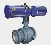 Buy cheap Trunnion Mounted Ball Valve with Electric Actuator product