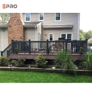 Buy cheap Black Outdoor Aluminum Balustrade Exterior Handrails SONCAP standard product