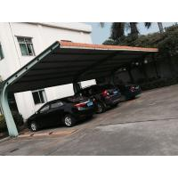 Buy cheap 4 sets Small Cars Parking Shed Garage Steel Frame With Red Arc Shape Roof Top product