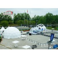 Quality 100sqm Steel Frame Geodesic Dome Tents With Interior Decoration For Exhibition for sale