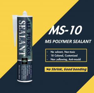 Buy cheap Zero VOC Ms Polymer Based Sealant , Ms Adhesive Sealant Weather Resistance product
