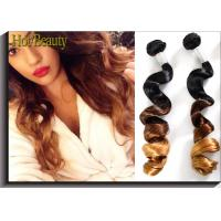 """China Ombre Three Tone Virgin Peruvian Hair Extensions Loose Wave 24"""" wholesale"""