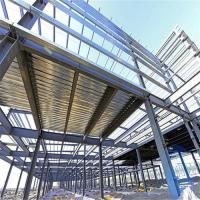 Buy cheap Durable Garage Steel Frame For High Building With Grey Paint / Floor Decking product