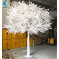 Buy cheap Custom Large Artificial Ficus Plant White Leaf For Indoor Hotel Decoration product