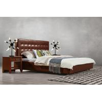 Buy cheap Good quality PU/ Imported Cow ISO9001 Leather Upholstered King Bed Frame Leisure Furniture for Hotel house Bedroom Suite product