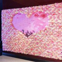 Buy cheap 40*60cm Silk Fabric Coloful Artificial Rose Flower Wall Vertical Garden Handmade Real Touch product