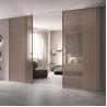 Buy cheap Mesh Glass Entrance Aluminum Sliding Doors Slim Frame 0.7mm Thickness from wholesalers