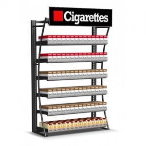 Modern Wide Cigarette Display Shelf Cigarette Storage Cabinet Fully Welded