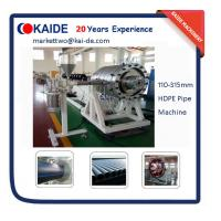 Buy cheap HDPE Pipe Making Machine with high big diameter 110mm-315mm product
