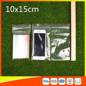 Buy cheap 10 x 15 sachets en plastique refermables clairs de tirette/poly sac à obturation automatique product