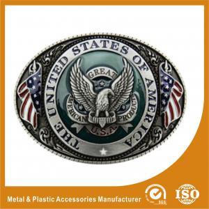 Engravable Black Silver Western Custom Belt Buckle For Belt Accessories