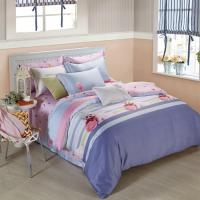 Buy cheap King Size 6 Piece Home Coral Bedding Sets Silk Material Most Comfortable product