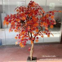 Buy cheap Crimson Red Artificial Maple Tree Home Garden Plants Office Decoration from wholesalers