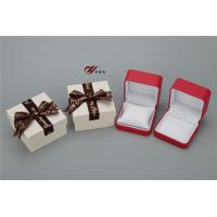 Buy cheap Red PU Leather Bangle Box With White Pillow And Bowknot Outer Box product