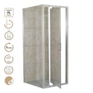 Buy cheap 5mm Glass Pivot Door Shower Enclosure product