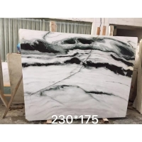 China Polished Marble Kitchen Tops Wall Honed Exotic Panda Black White Marble Slabs Tile Stone Block Floor on sale