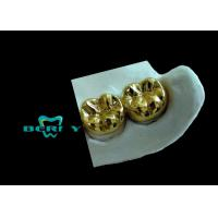 China Yellow Gold Full Cast Metal Crown High Casting Accuracy ISO13485 wholesale