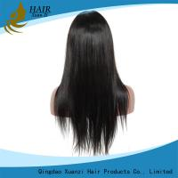 China Tangle Free Pure Full Lace Human Hair Wigs Density 150% Hair Cap No Chemical wholesale