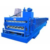 Buy cheap Automatic PLC Frequency Control Double Layer Roofing Sheet Roll Forming Machine product