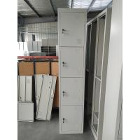 Buy cheap Vertical single one row four door Gym Locker/Staff Locker H1850XW380XD450MM light gray product
