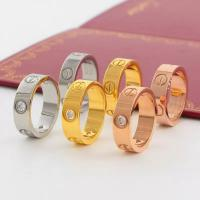 China Love Screw Ring Luxury Fashion Cartier Titanium Steel Women Men Gold Couple Jewelry with Box on sale