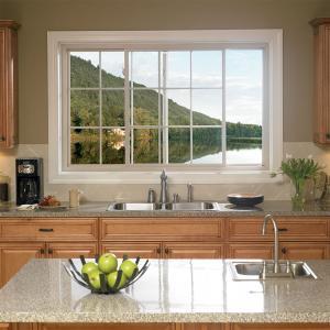 Buy cheap 6063 Frame Fireproofing Aluminum Sliding Windows White Black Color For Kitchen product