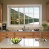 Buy cheap 6063 Frame Fireproofing Aluminum Sliding Windows White Black Color For Kitchen from wholesalers
