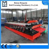 Buy cheap PLC Control Glazed Tile Roll Forming Machine , Automatic Steel Roll Forming Machine product