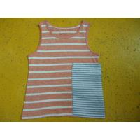 Buy cheap Loose Fit Girls Stylish Top Sleeveless Crew Neck Tank Topswith Big Side Pocket product