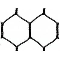 "Garden Fence Black Vinyl Coated Hexagonal Wire Netting With 20 Gauge , 1"" woven mesh"