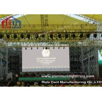 Buy cheap Outside Concert Stage Light Truss , Spigot Arc Stage Lighting Frame Solid from wholesalers
