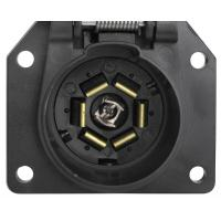 Buy cheap 7 Way Trailer Electrical Socket 7 Blade Trailer Connector With Cover product
