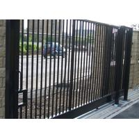 Steel Wall Compound : Durable motorised metal sliding gates powder coated for