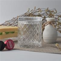 Buy cheap Creative decorative glass candle holders with lid set , pattern design product