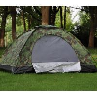 Buy cheap Single Layers Camouflage Outdoor Camping Tent , Waterproof Easy Up Camping Tent  product