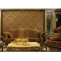 China European Style Wet Embossing peel and stick wall covering 0.685*8.32M Different Colors on sale