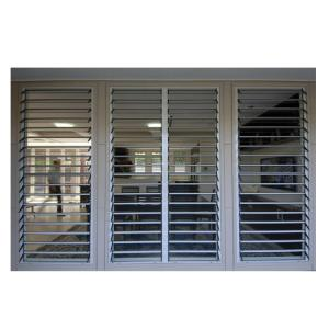 Buy cheap Aluminum Fixed Rolling Shutter Louver Glass Door For Exterior Vertical product
