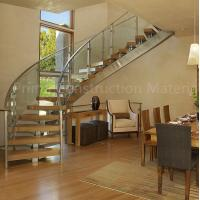 Buy cheap Internal residential glass treads curved staircase product