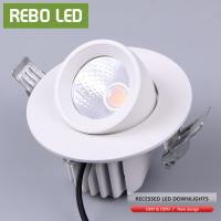 China White 10w Gimble Til Moveable Aluminum Recessed LED Downlight Adjustable Cob Downlights on sale