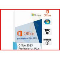 Buy cheap Microsoft Office 2013 Professional 32/64-bit DVD and Key NEW SEALED 100% working office 2013 pro plus license product