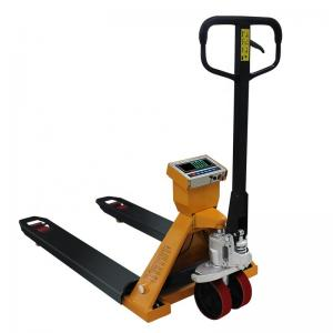 Buy cheap 1/2/3 T Narrow Fork Pallet Truck Scale Big Screen Display Nylon wheel Hand Pallet Truck product