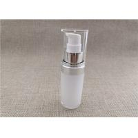 Buy cheap White Acrylic Dispenser Bottles , Straight Round Airless Lotion Pump Bottles product