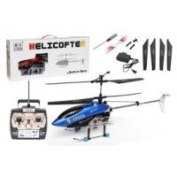 Buy cheap Blue Metal Frame 3 channel radio controlled  indoor helicopters  with  50m Control Range product