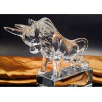 Buy cheap Crystal Cow Animal Figurines Model For Office / Home Decorations product