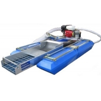 Buy cheap Steel 0.5T/H Mini Gold Mining Boat 15Kw 3.5m Length Rotary Movable product