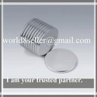 Buy cheap Sintered NdFeB Disc Magnet With Ni Coating And Mark on North Pole product